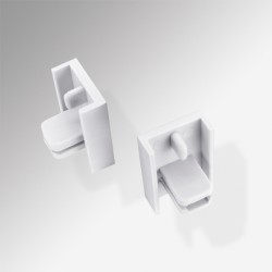MInirail End Piece, White