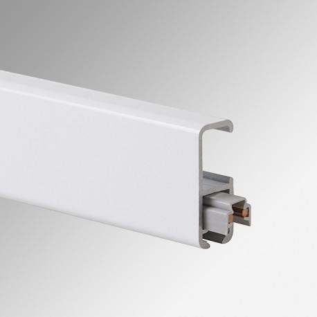 Clip Rail Lighting Track, White