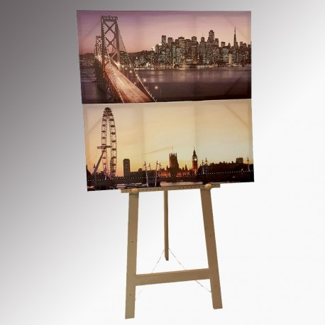 The 'Big' Easel 180cm (Heavy Duty), Natural Wood Finish