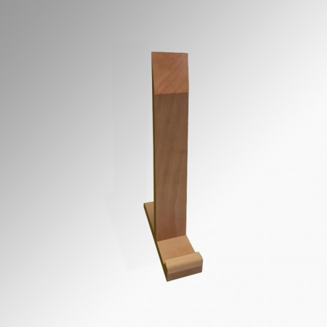 Smart Display Easel (A1), Natural Wood