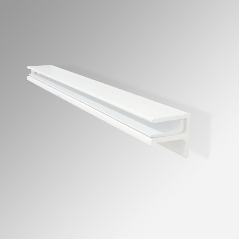 39 multi surface 39 floating glass shelf bracket no glass. Black Bedroom Furniture Sets. Home Design Ideas