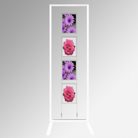 Display Panel Stand A4, White (x4)