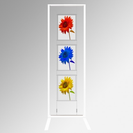 Display Panel Stand A3, White (x3)