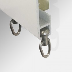 Curtain 'Ring' Sliders, Brass (Curtain Rail)