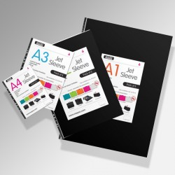 'Jet' Art Display Portfolio Sleeves (Pack of 5)