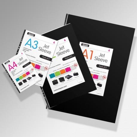 'Jet' Art Display Portfolio Sleeves (Pack of 5)