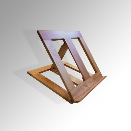 Adjustable Table Lectern, Natural Wood Finish