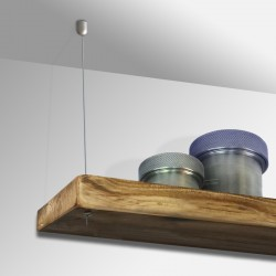 Steel Cable Wooden Shelves (Cable & Fittings)
