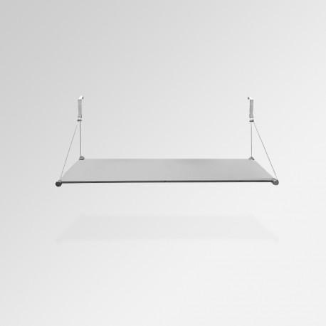 'Temporary Walls' Glass Shelf Unit (Single Shelf)