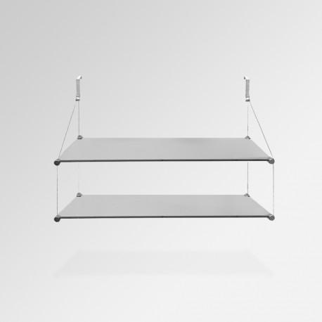 'Temporary Walls' Glass Shelf Unit (Double Shelf)