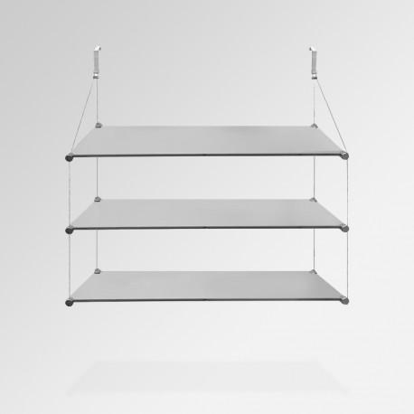 'Temporary Walls' Glass Shelf Unit (Triple Shelf)
