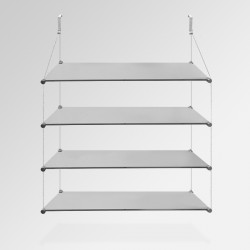 'Temporary Walls' Glass Shelf Unit (Quad / 4x Shelf)