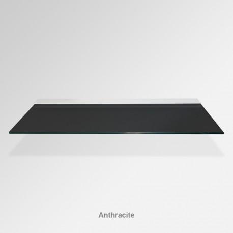 'Anthracite' Colored Glass Shelf (Inc. Bracket)