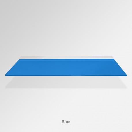 'Blue' Colored Glass Shelf (Inc. Bracket)
