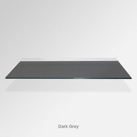 'Dark Grey' Colored Glass Shelf (Inc. Bracket)