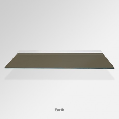 'Earth' Colored Glass Shelf (Inc. Bracket)