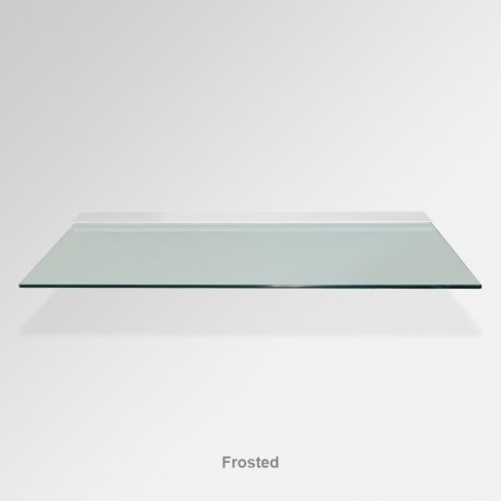 'Frosted' Colored Glass Shelf (Inc. Bracket)