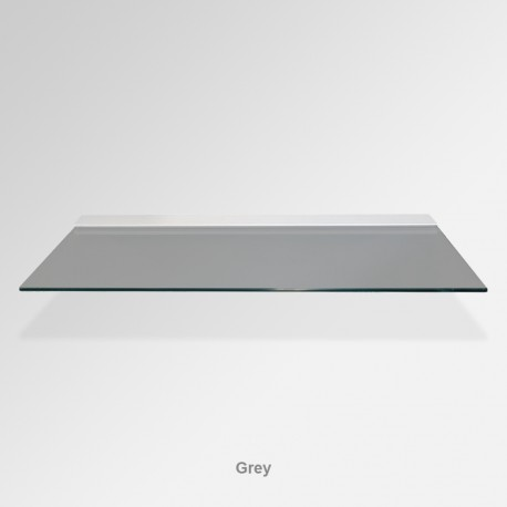 'Grey' Colored Glass Shelf (Inc. Bracket)