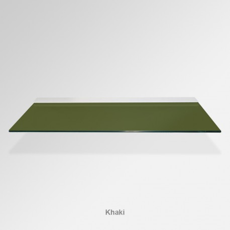 'Khaki' Colored Glass Shelf (Inc. Bracket)