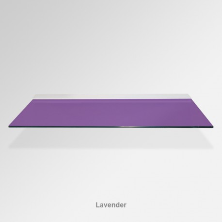 'Lavender' Colored Glass Shelf (Inc. Bracket)