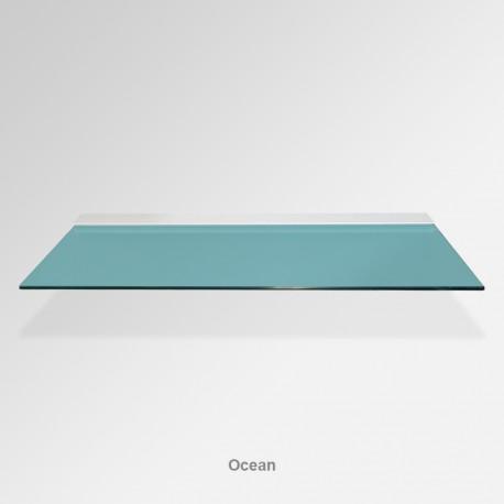 'Ocean Blue' Colored Glass Shelf (Inc. Bracket)