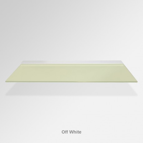 'Off White' Colored Glass Shelf (Inc. Bracket)