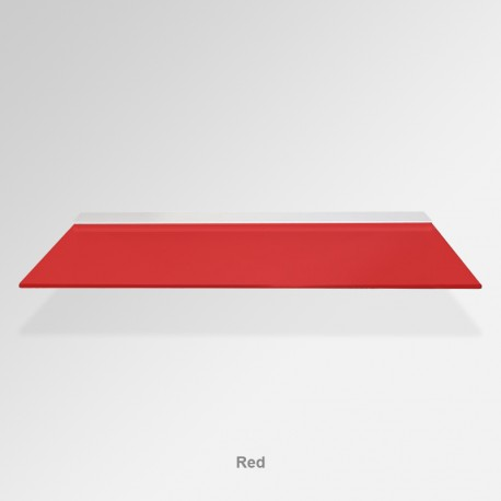 'Red' Colored Glass Shelf (Inc. Bracket)