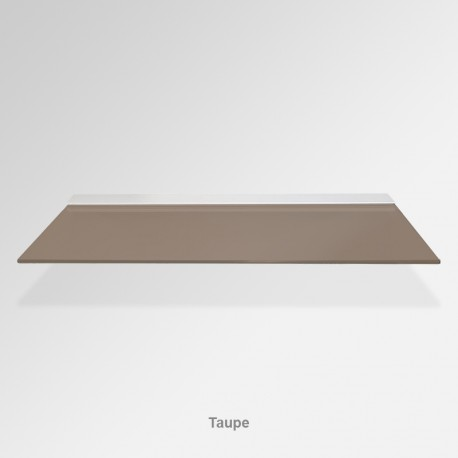 'Taupe' Colored Glass Shelf (Inc. Bracket)