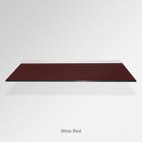 'Wine Red' Colored Glass Shelf (Inc. Bracket)