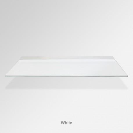 'White' Colored Glass Shelf (Inc. Bracket)