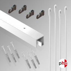 P Rail 2m 'All-in-one' Hanging Rod Kit (Ceiling Track)