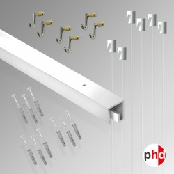 P Rail 3m 'All-in-one' Gallery System Kit (Ceiling Track)