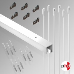 P Rail 3m 'All-in-one' Hanging Rod Kit (Ceiling Track)