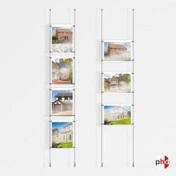 A4 Ceiling / Floor Rod Display Set (Complete)