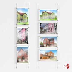 A3 Ceiling / Floor Rod Display Set (Complete)