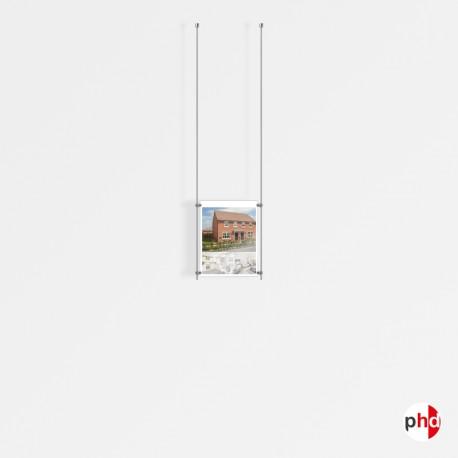 1x A4 Ceiling Rod Display Set (Portrait)