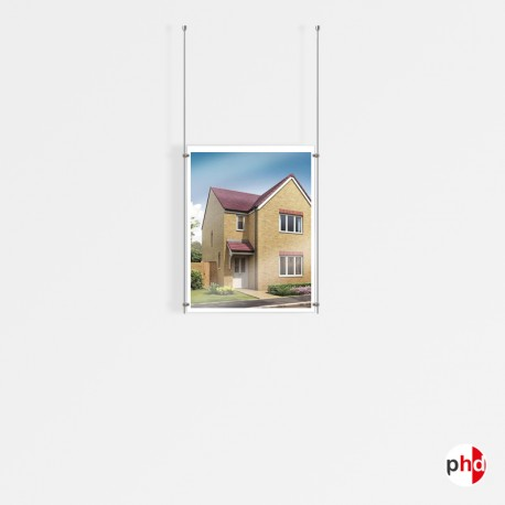 1x A2 Ceiling Rod Display Set (Portrait)