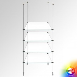 Glass Rod Shelving Display Unit