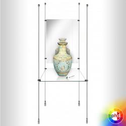 Shop Display Shelf & Mirror Rod Kit