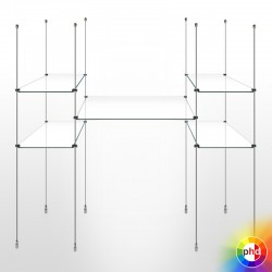 Suspended Glass Shelving Rod Kit