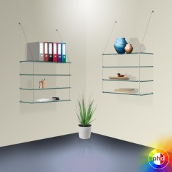 Suspended Cable Glass Shelving