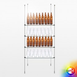 Suspended Bar Shelving Beer Bottle Storage