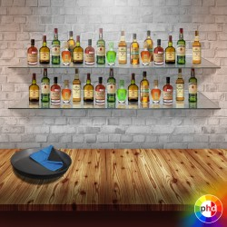 Floating Glass Bar Shelves