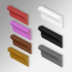 Colored Wood Moulding / Picture Rail