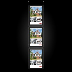 A2 LED Display Pocket & Ceiling Hanging Kit | Cable Display & Lighting