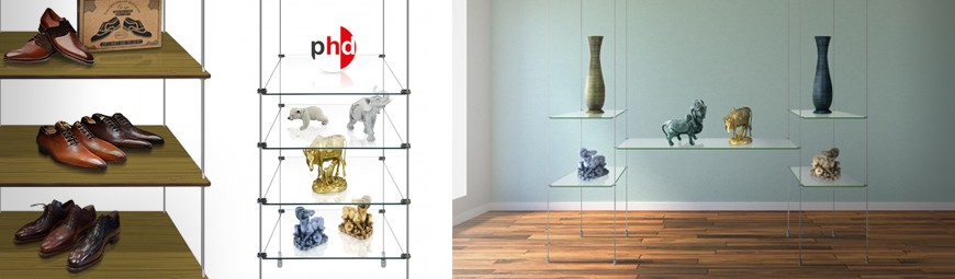 Retail Display Shelving (Glass & Wood)